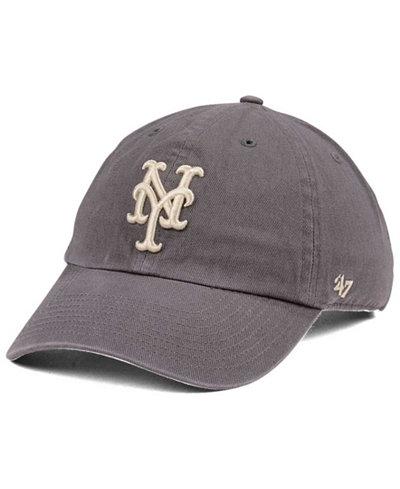 '47 Brand New York Mets Dark Gray CLEAN UP Cap