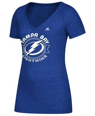 adidas Women's Tampa Bay Lightning Banner Dazzle T-Shirt