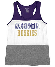 Blue 84 Women's Washington Huskies Racerback Panel Tank Top