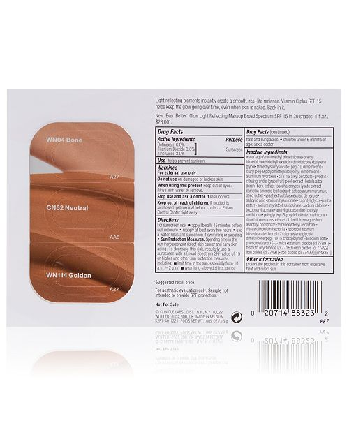 Clinique Receive a FREE Even Better Glow SPF 15 Makeup Tri-Shade with $45 Clinique purchase!