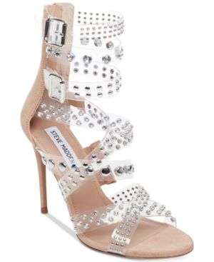 Steve Madden Moto Embellished Dress Sandals 6012224