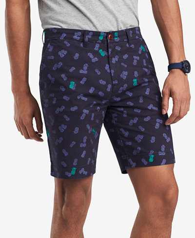 Tommy Hilfiger Men's Pineapple Embroidered Scatter-Print 9