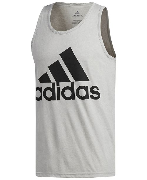1d2f33045b6147 adidas Men s Heathered Logo Tank Top   Reviews - T-Shirts - Men ...