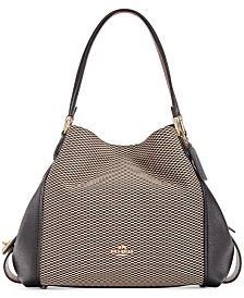 COACH Legacy Jacquard Edie 31 Medium Shoulder Bag