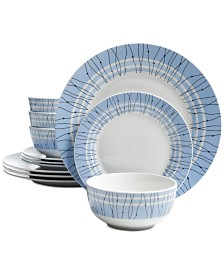 Gibson Classic Blue 12-Pc. Dinnerware Set, Service for 4
