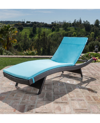 Carmel Outdoor Chaise Lounge, Quick Ship