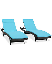 Carmel Outdoor Chaise Lounge (Set Of 2), Quick Ship