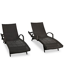 Ventura Outdoor Chaise Lounge (Set Of 2), Quick Ship