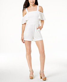XOXO Juniors' Cold-Shoulder Romper