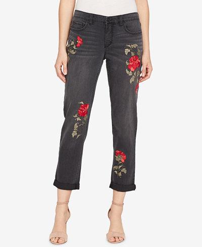 Vintage America Gratia Bestie Ripped Embellished Jeans