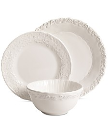 Laurie Gates Madeira White 12-Pc. Dinnerware Set, Service for 4