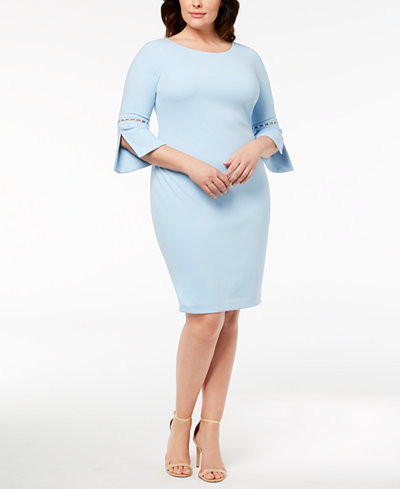 Calvin Klein Plus Size Imitation-Pearl Sheath Dress