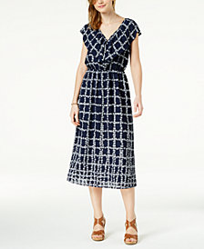Maison Jules Printed Flounce Maxi Dress, Created for Macy's