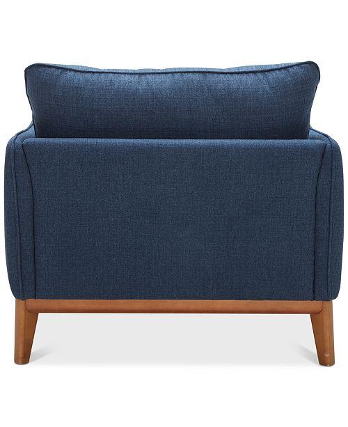 "Furniture Jollene 39"" Fabric Armchair, Created For Macy's"