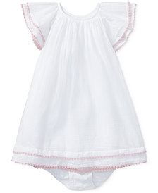 Polo Ralph Lauren Flutter-Sleeve Cotton Dress