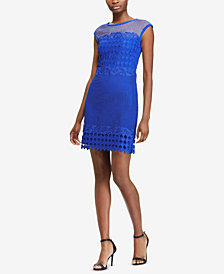 Lauren Ralph Lauren Scalloped Lace Dress, Regular & Petite Sizes