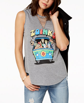 Juniors' Strappy Scooby Doo Graphic T Shirt by Love Tribe