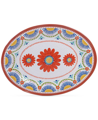 Certified International Vera Cruz Melamine Oval Platter