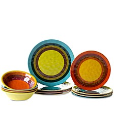 Sedona Melamine 12-Pc. Dinnerware Set