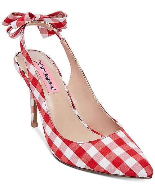 Betsey Johnson Ginjer Slingback Pumps Women's Shoes LHBXiiDyn