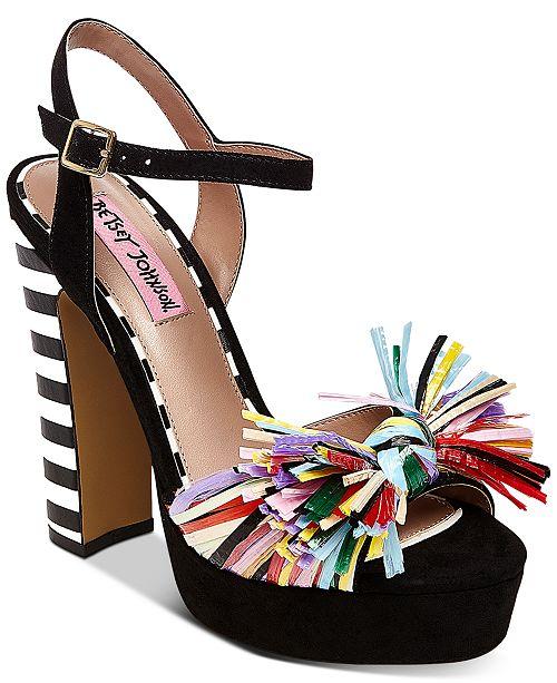 553a4b08e272 Betsey Johnson Mandy Dress Sandals   Reviews - Sandals   Flip ...