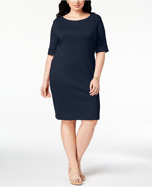 d3158ce152716 Karen Scott Plus Size T-Shirt Dress