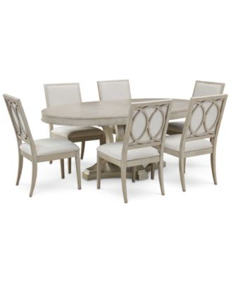 Rachael Ray Cinema Round Dining Furniture, 7 Pc. Set (Expandable Dining  Table U0026 6 Upholstered Side Chairs)