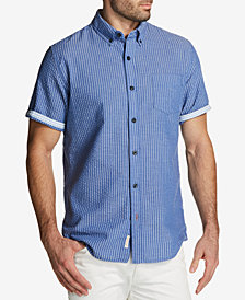 Weatherproof Vintage Men's Seersucker Stripe Pocket Shirt