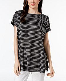 Eileen Fisher Organic Linen Striped Top