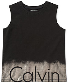 Calvin Klein Shimmer Cotton Tank Top, Big Girls