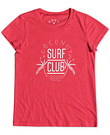 Roxy Coconut Surf Club Cotton T-Shirt, Big Girls