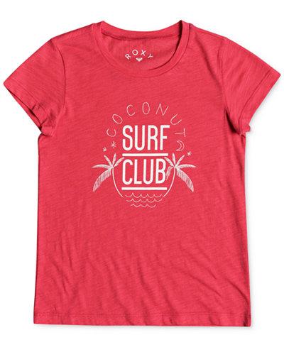 Roxy Coconut Surf Club Cotton T-Shirt, Big Girls