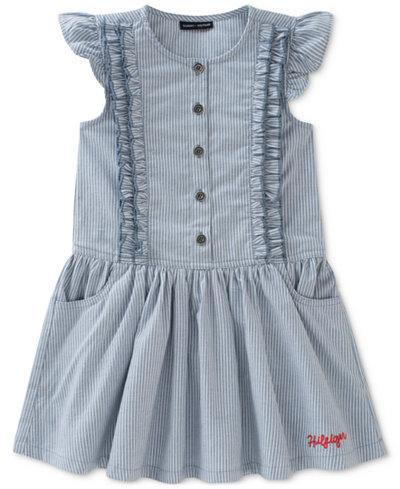 Tommy Hilfiger Ticking Striped Dress, Toddler Girls