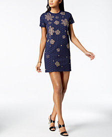 MICHAEL Michael Kors Embellished T-Shirt Dress, Regular & Petite, Created for Macy's