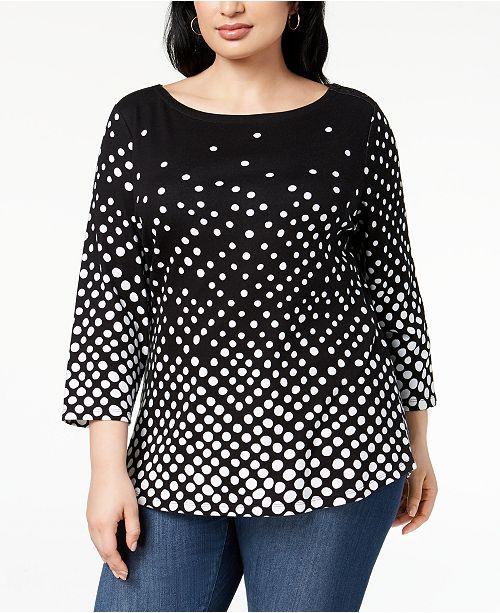 27e62adc9ab ... Charter Club Plus Size Cotton Print T-Shirt