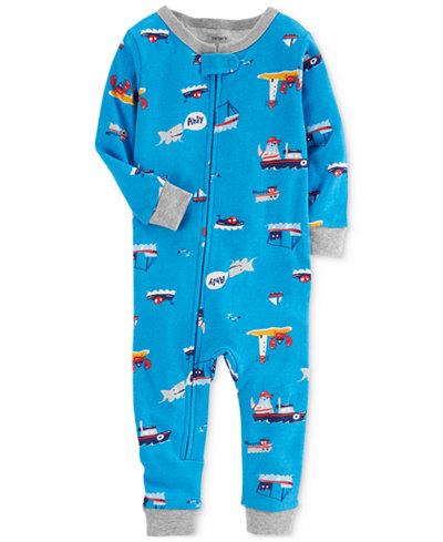 Carter's 1-Pc. Ship-Print Cotton Pajamas, Baby Boys