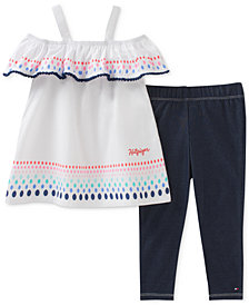 Tommy Hilfiger 2-Pc. Tunic & Leggings Set, Baby Girls