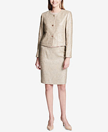 Calvin Klein Tweed Blazer & Pencil Skirt