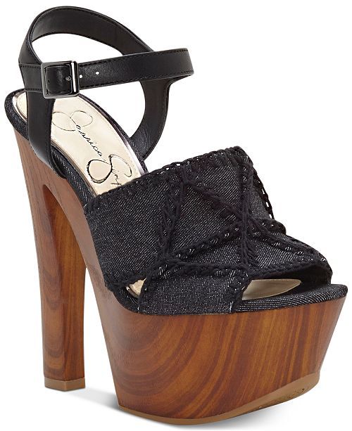 c6a1f78ef264 Jessica Simpson Dezzie Mega Wood-Platform Sandals   Reviews ...