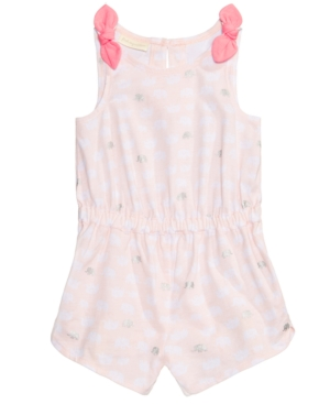 First Impressions BowShoulder Cotton Romper Baby Girls Created for Macys