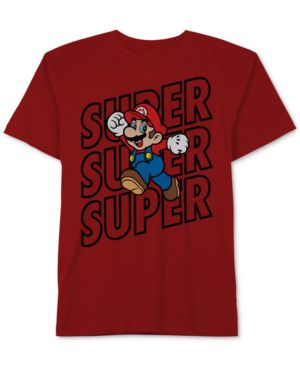 Nintendo Super Mario Graphic-Print Cotton T-Shirt, Big Boys 5970584