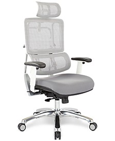 Adkin Office Chair with Headrest - White