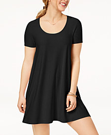 Planet Gold Juniors' Trapeze T-Shirt Dress