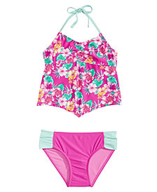 Summer Crush 2-Pc. Floral-Print Tankini, Big Girls