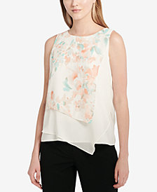 Calvin Klein Asymmetrical Top, Regular & Petite