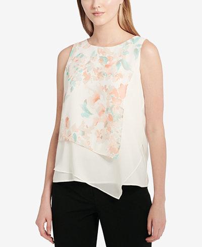Calvin Klein Asymmetrical Top, Regular & Petite