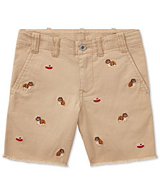 Polo Ralph Lauren Embroidered Chino Shorts, Little Boys