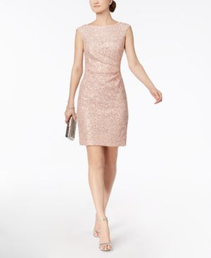 Vince Camuto Sequined Lace Starburst Dress 5535130