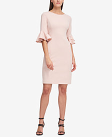 DKNY Flounce-Sleeve Sheath Dress, Created for Macy's