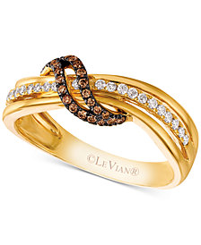 Le Vian Chocolatier® Diamond Crisscross Ring (1/4 ct. t.w.) in 14k Gold
